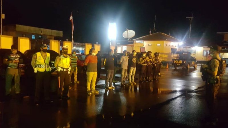 Antisipasi Gangguan Kamtibmas, Polres Mimika Laksanakan Patroli Malam Hari