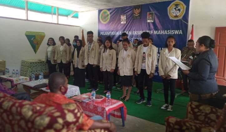 Badan Eksekutif Mahasiswa STIKIP Hermon Mimika Resmi Dilantik