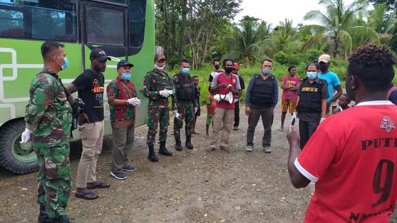 Freeport Gelar Sosialisasi Dan Simulasi Pelayanan Bus di Kampung Nayaro