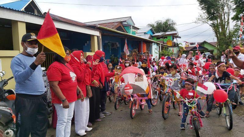 Meriahkan HUT RI 75, Perum Bumi Kamoro Indah Selenggarakan Sepeda Hias