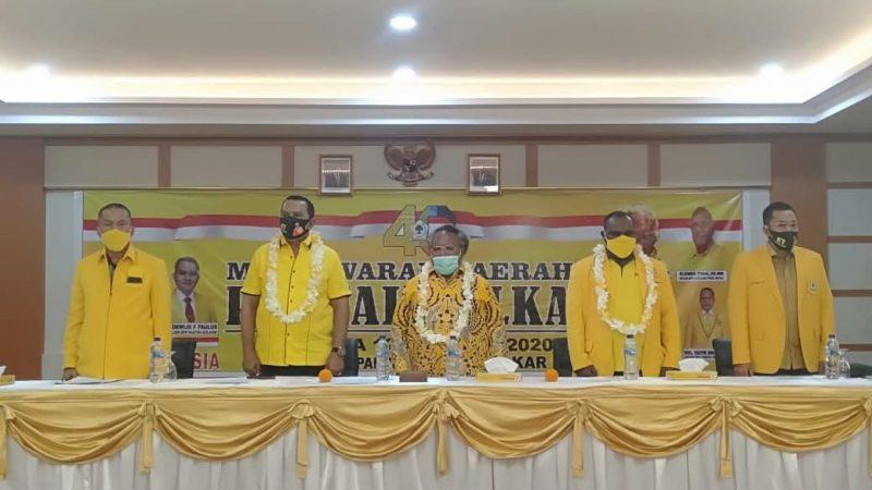 Eltinus Omaleng, SE, MH Kembali Pimpin DPD Golkar Kabupaten Mimika