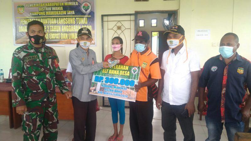 Kampung Mawokauw Jaya Salurkan BLT-DD Tahap II Bagi 146 KK
