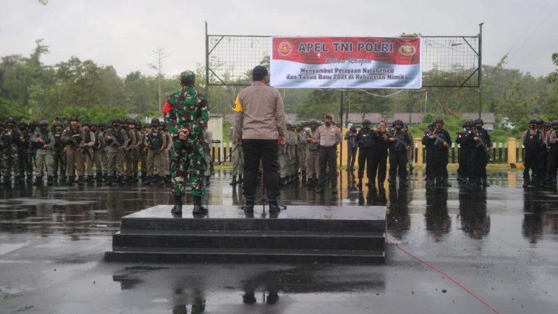 TNI-Polri di Mimika Gelar Apel Gabungan Ciptakan Keamanan di Bulan Desember