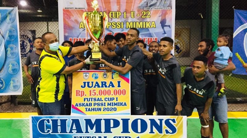 Taklukkan Aruka Di Final 10-2, Paewa Juarai Futsal Askab PSSI Mimika Cup I