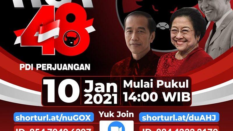 Secara Daring, Hari Ini Megawati dan Presiden Jokowi Berpidato di HUT Ke-48 PDI Perjuangan