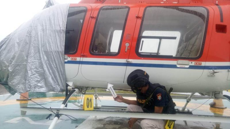 Sedang Lakukan Survey GPS di Benangin, Helicopter Milik SGI Ditembak OTK