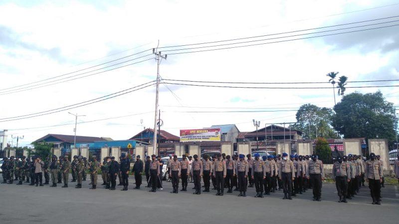 Amankan Hari Raya Idul Fitri Di Timika, Aparat TNI-POLRI Gelar Apel Gabungan