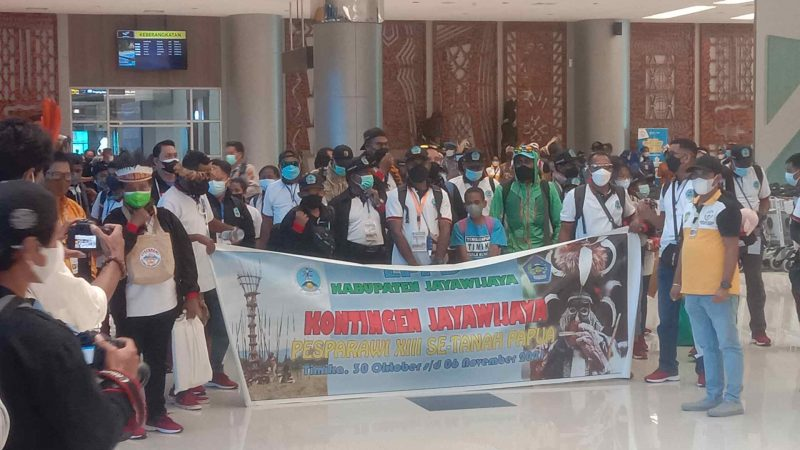Jayawijaya Menjadi Kontingen Pertama Pesparawi Tiba di Timika